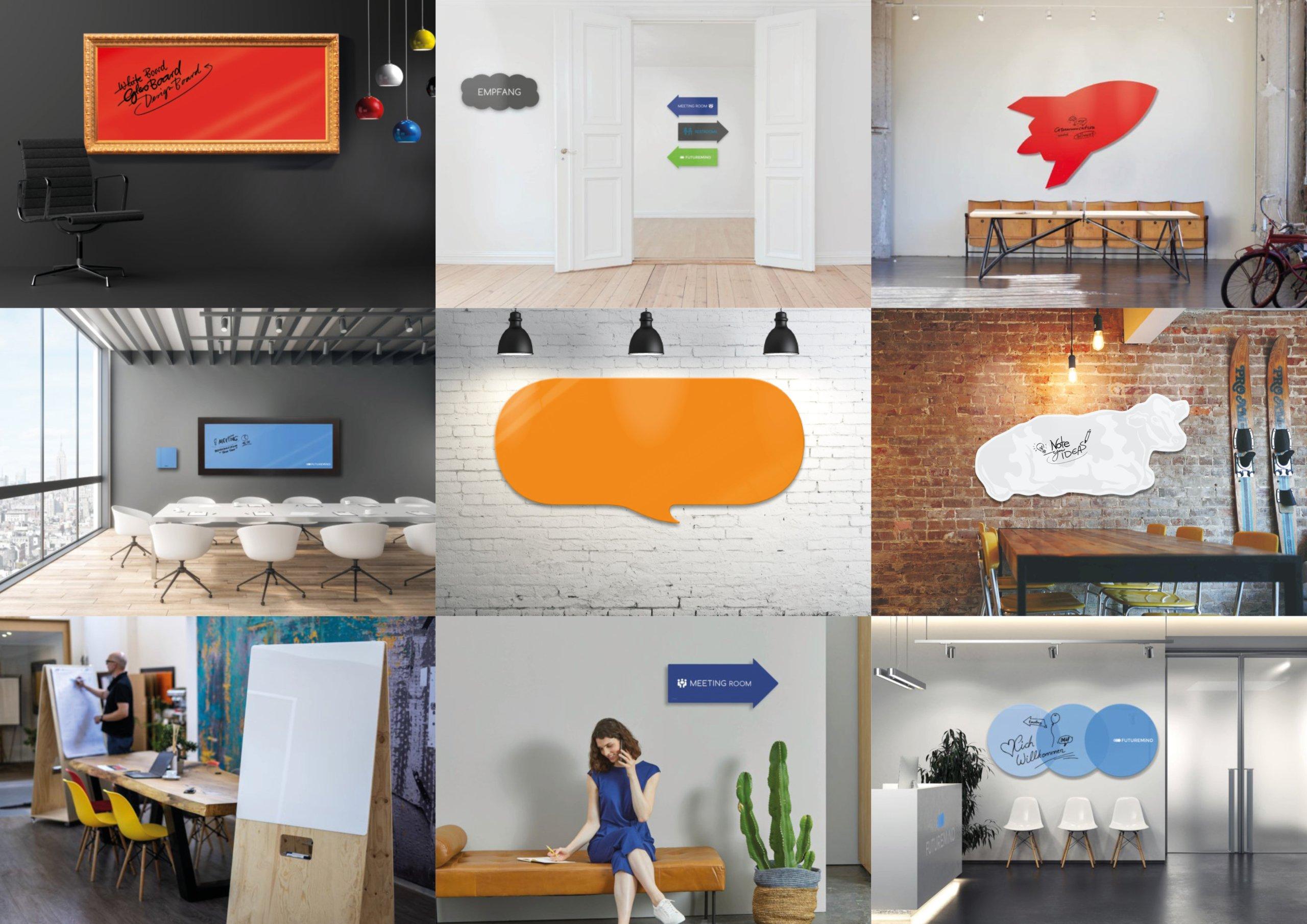 Individuelle WhiteBoards_Mobile Fliphcharts_Bürogestaltung nach Wunsch