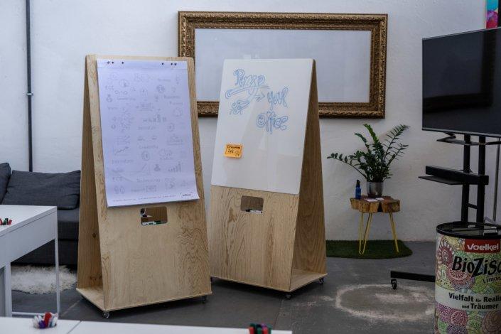 Mobiles Flipchart & Whiteboard in Einem